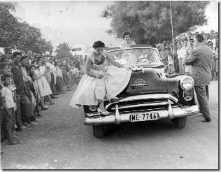 madrina de las fiesta 1955