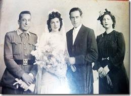 Pedro Cortés, Pepita Garcia, Julián Herrera y Eugenia Garcia.
